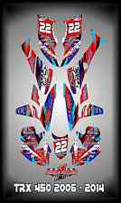 Honda TRX 450R ATV SEMI CUSTOM GRAPHICS KIT CHU