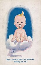 POSTCARD   COMIC   CHILDREN  Baby  Related         Buxton