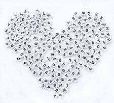 "200PCs Mixed Acrylic Alphabet ""A-Z"" Spacer Heart Beads 7mm(1/4"") D001"