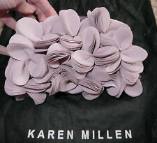 Karen Millen Pale Pink cut out flower evening clutch bag