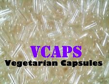"""VCAPS 1000 Clear Size """"0"""" Empty Vegetarian Capsules (HPMC) No Gelatin***"""