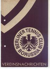 Tennis Borussia Berlin - Vereinsnachrichten - März / April 1954