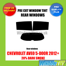 CHEVROLET AVEO 5-DOOR 2012+ 20% DARK REAR PRE CUT WINDOW TINT