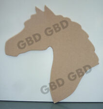HORSE HEAD SHAPE IN MDF (250mm x 6mm thick)/WOODEN CRAFT SHAPE/BLANK DECORATION