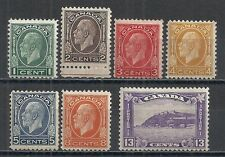Canada stamps 1932 SG 319-325  MLH  F/VF