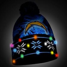 San Diego Chargers Big Logo Light Up Printed Beanie Winter Hat Cuffed Pom New