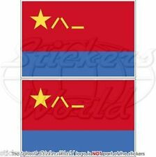 """CHINA Chinese AirForce PLAAF Flag Vinyl Bumper Decals, Stickers 4"""" (100mm) x2"""