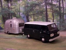 1965 FORD ECONOLINE VAN  + AIRSTREAM CAMPER COLLECTIBLE 1/64 SCALE MODELS