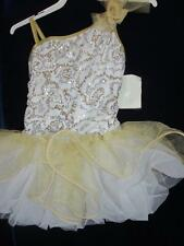 Gold Shimmer Sequin Solo Ballet Skate Curtain Call Costume CLG
