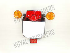NEW ROYAL ENFIELD REAR NUMBER PLATE WITH INDICATOR, TAIL LIGHT AND REFLECTOR