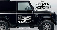 Union Jack BFG Land Rover Stickers, Driving a legend, Decal, Vinyl, x 2