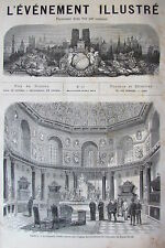 RUINE COMMUNE PARIS KABYLIE GRAVURES JOURNAL L EVENEMENT ILLUSTRE N° 22 de 1871
