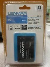 Lenmar CLZ307 Cell Phone Battery LG AX155, CE110 New in Package Free Shipping!