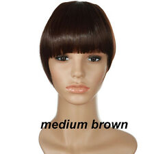 gorgeous human natural Clip on Front Neat Bang Fringe Hair Extensions Colors si8