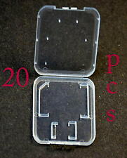 Lot 20 Plastic Case For SD card MicroSD memory card SanDisk Kingston Transcend