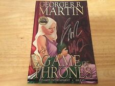 SIGNED x2 George R R Martin A Game Of Thrones Comic #11 1st Print Mike S Miller