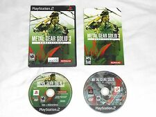 Metal Gear Solid 3 Subsistence Playstation 2 COMPLETE PS2 game mg subsistance