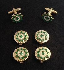 Royal Order of Scotland Button Cover & Cuff Link Set (ROS-BCL)