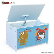 Spielzeugkiste Kinder Spielkiste Puppy Neu Spielzeugtruhe Box blau