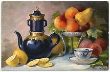 ARTIST SIGNED.PANIER DE FRUITS. BASKET OF FRUITS. JOLIE NATURE MORTE.STILL LIFE.
