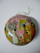 NEW Disney LADY & THE TRAMP Dogs Movie Classic DECOUPAGE CHRISTMAS ORNAMENT