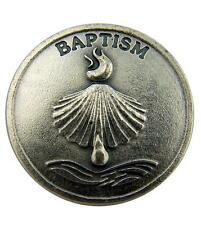 Religious Baby Gift Baptism Shell Baptized in Christ Pocket Token Keepsake Coin