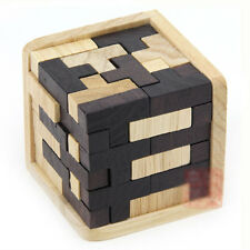 Very Difficulty !!! Zebra 54 T Cube Wood Construction Puzzle Wooden Brain Teaser