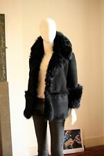 Authentic Gucci Black Sheepskin Jacket Size 8/10 UK