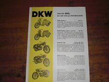 Prospectus sales brochure DKW sport machine rt 125 roller scooter автомобиль
