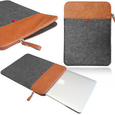 Smart Laptop Felt Sleeve Case Cover Bag Vertical Felt & Leather sleeve with ZIP