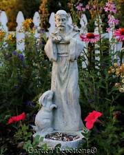 "18"" ST. FRANCIS OF ASSISI BIRDFEEDER Bird Feeder DURABLE GARDEN STATUE ~ New!"