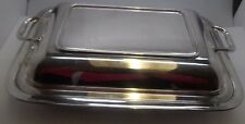 Edwardian Twin Handled Silver Plated Entree Dish No Reserve