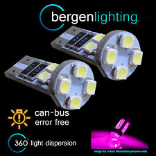 2x W5w T10 501 Canbus Error Free Rosa 8 Led sidelight Laterales Bombillos sl101605