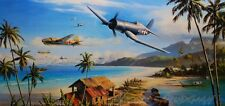 Battle For The Islands Artist Proof by Nicolas Trudgian F4U Corsair VMF121