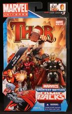 "2010 HASBRO MARVEL UNIVERSE COMIC 2-PACK IRON MAN VS THOR 3 3/4"" FIGURES MOC"
