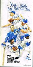 1987 Kansas City Royals Baseball MLB Media GUIDE