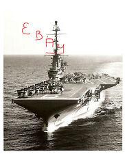 US NAVY HUGE 16X20 PHOTO OF THE U.S.S. ESSEX CV-9 IN ACTION AT SEA LOOK