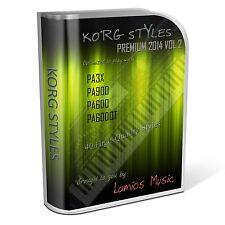 Korg Styles Premium 2014 Vol2 for Korg PA300 PA600/QT PA900 PA3X PA4X. 40 Styles