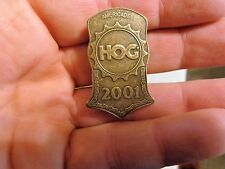 HOG 2001 Americade vest PIN Harley Davidson Owners Group chapter fxsts softail