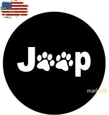 """Fit Jeep Paws Spare Wheel Tire Tyre Cover Case Protector 32"""" 33""""Jeep Wrangler"""