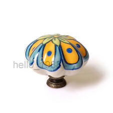 43mm Euro Hand-painted Country Ceramic Cabinet Knob Cupboard Drawer Knob Handle