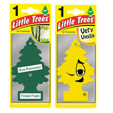 2 x Magic Tree Little Trees Car Air Freshener Scent FOREST FRESH + VERY VANILLA