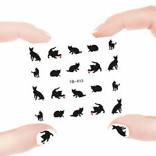 Nail Art Manicure Water Transfer Decal Stickers Lovely Cat YB413