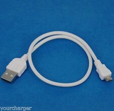 "0.5m 50cm Fast Charger ONLY USB Cable WHITE for Samsung Galaxy Tab S 10.5"" 8.4"""