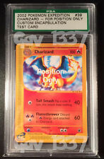 "Pokemon Charizard FPO ""For Position Only"" Test/Sample Rare Mint PSA Card Encased"