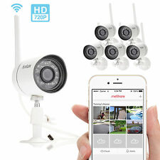 Funlux 6  Wireless 720P IP Outdoor IR Night Vision Home Security Camera System