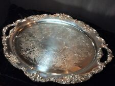 Reed & Barton King Francis 1655 Serving Platter Waiter Tray Scarce Silver Plate