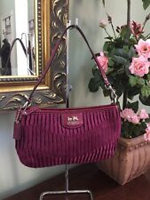 Coach Madison Gathered Signature Large Wristlet Berry 47173 W14
