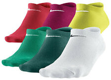 New Nike Women 6 Pair No-Show Socks Mix 6-10 M Medium SX4129-917 Tennis Running