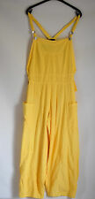 FABULOUS QUIRKY D'CELLI COTTON DUNGAREES IN A FAB YELLOW SIZE L/XL